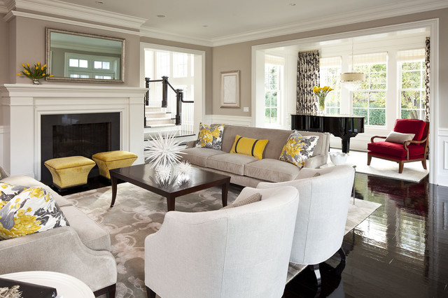 Marvelous-Yellow-Pillow-Living-Room-in-Most-Beautiful-Interior-Designs-with-Darkwood-Coffee-Table-and-Beige-Sofa-with-Some-Floral-Pillows-Cushions