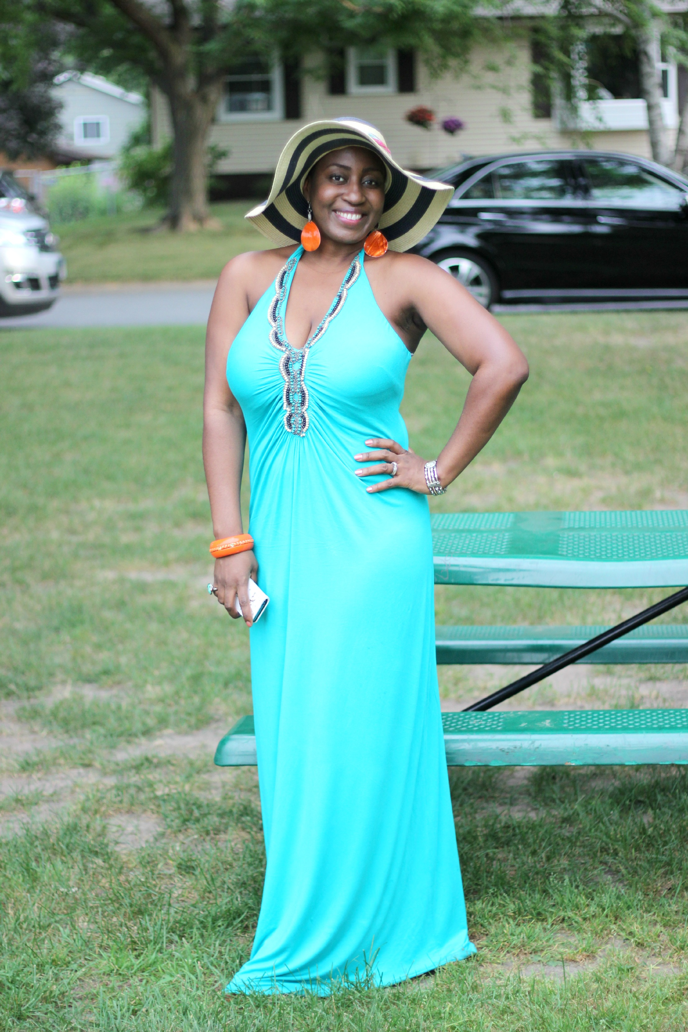 green maxi dress 14