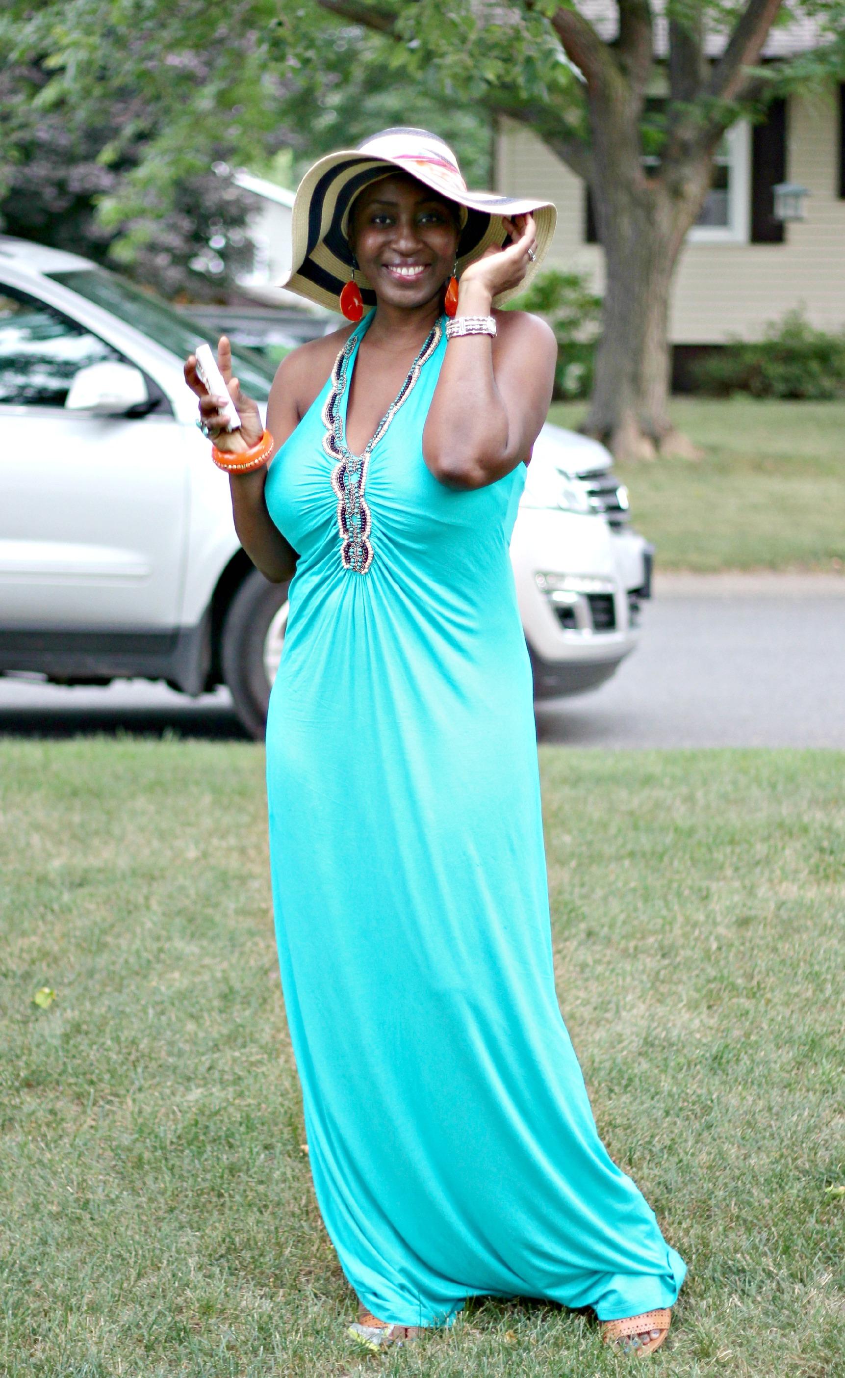 green maxi dress 22