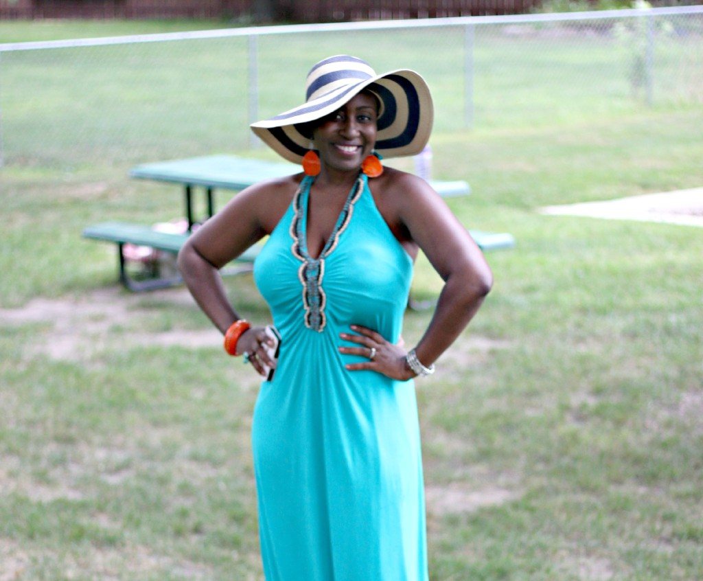 A day at the park: Maxi dress