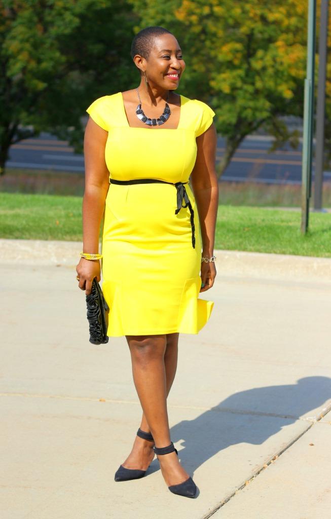 Yellow dress271
