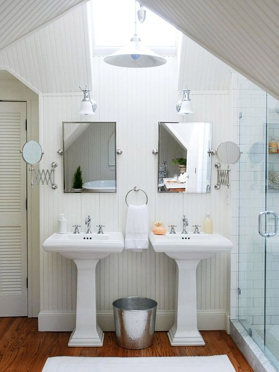 double mirror bath