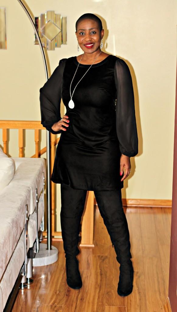 Black dress & Boots 2