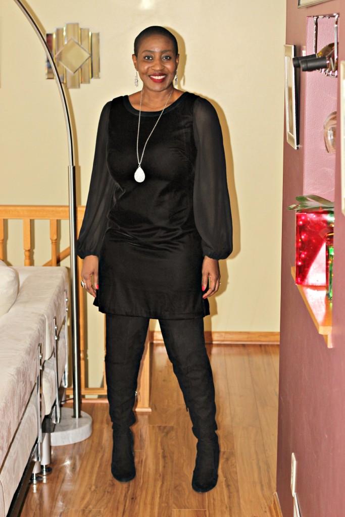 Black dress & Boots 3