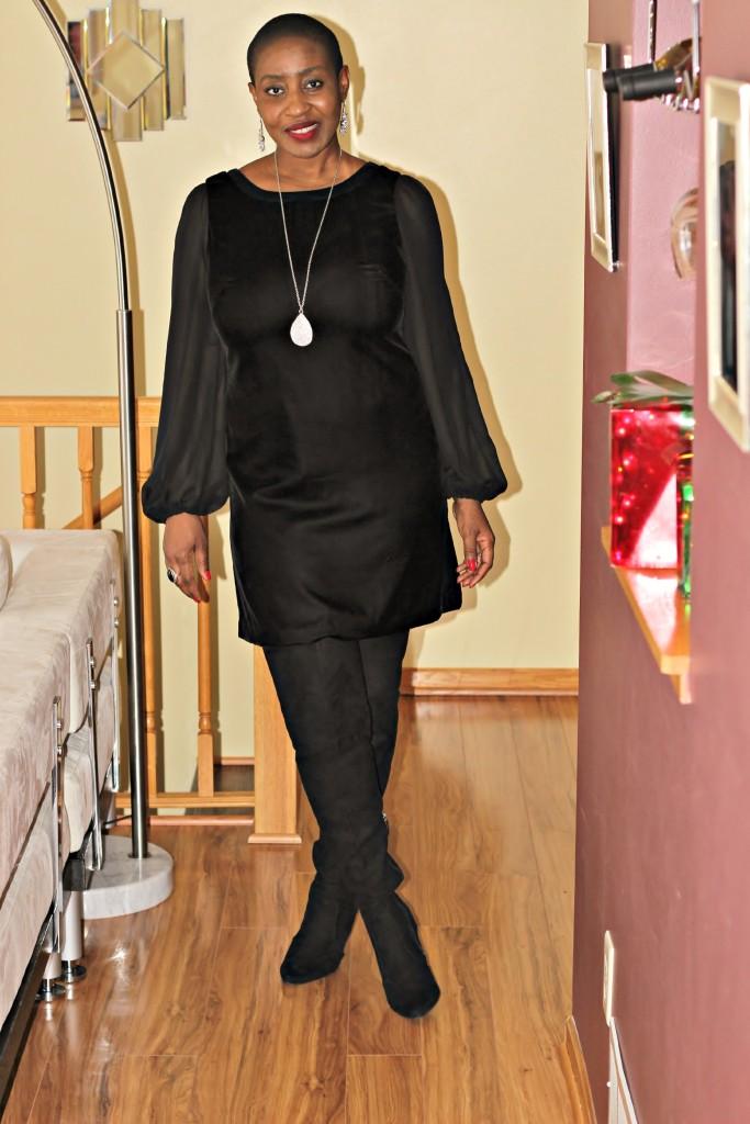 Black dress & Boots 5