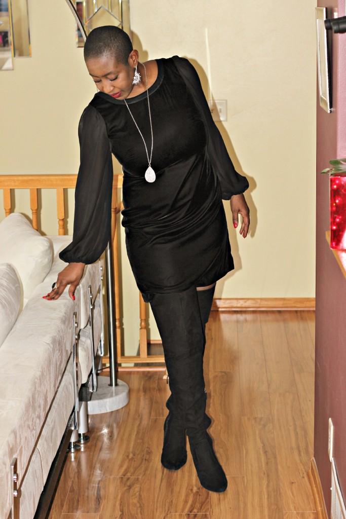 Black dress & Boots 6