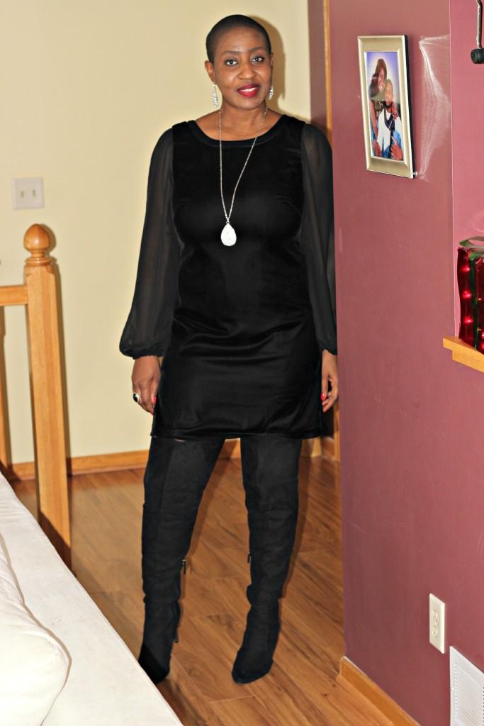 Black dress & boots 10
