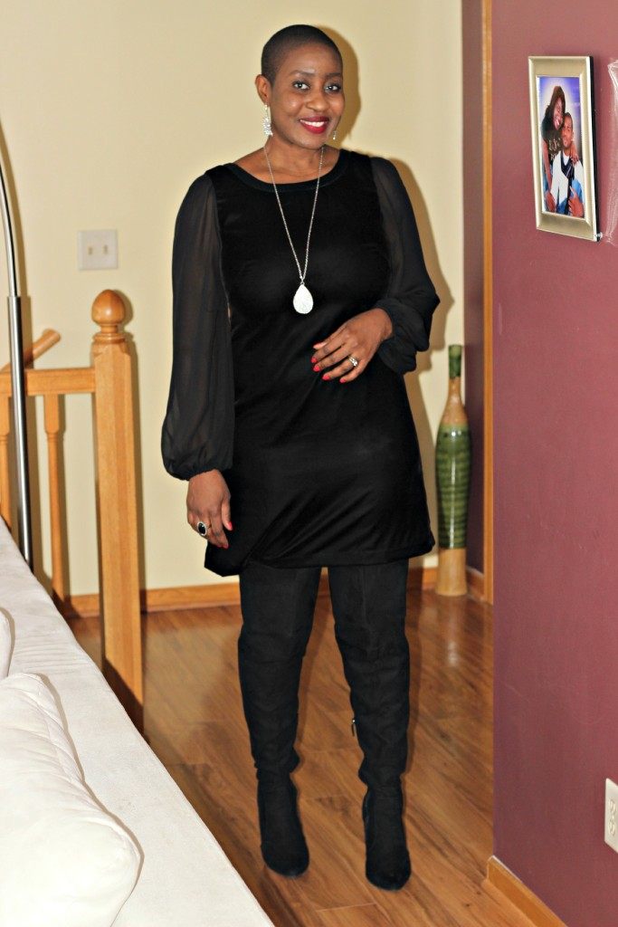 Black dress & boots 17
