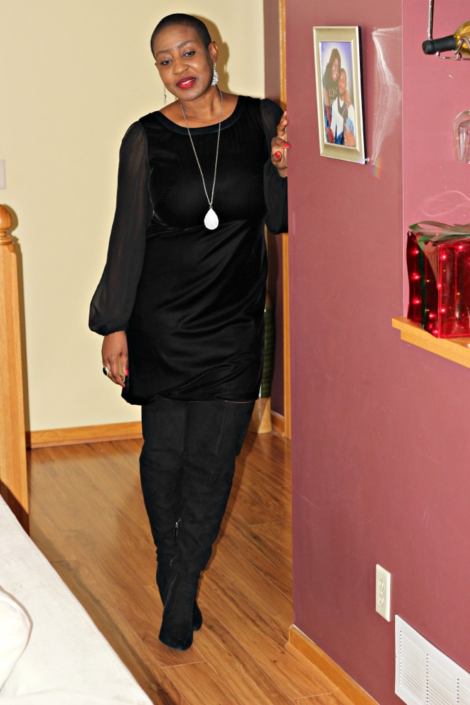 Black dress & boots 8