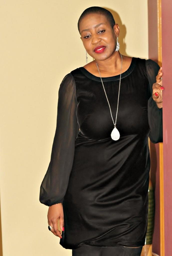 Black dress & boots 9