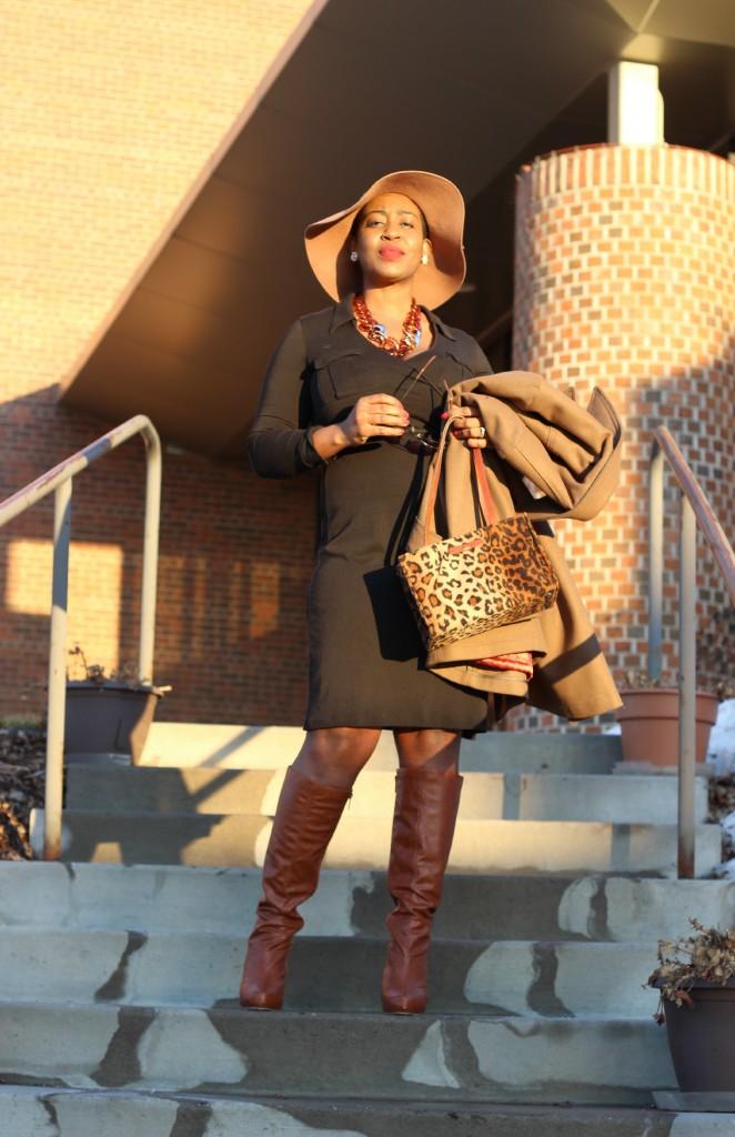 Wrap dress and oversized coat 21