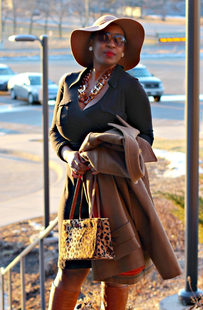 Wrap dress and oversized coat 23