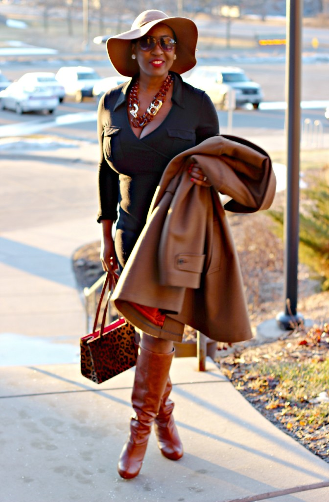 Wrap dress and oversized coat 25
