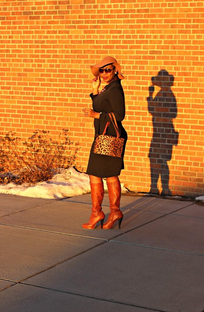 Wrap dress and oversized coat 27