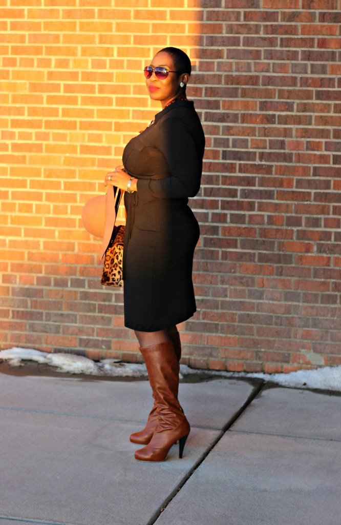 Wrap dress and oversized coat 28