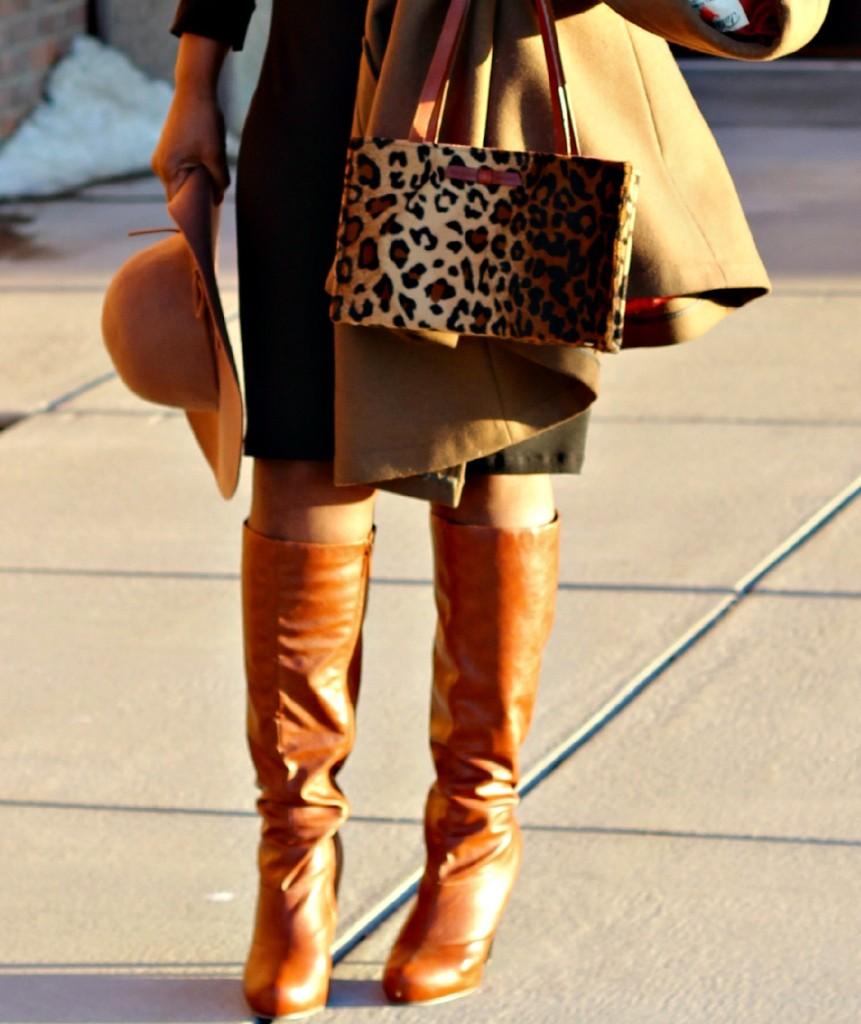 Wrap dress and oversized coat 32