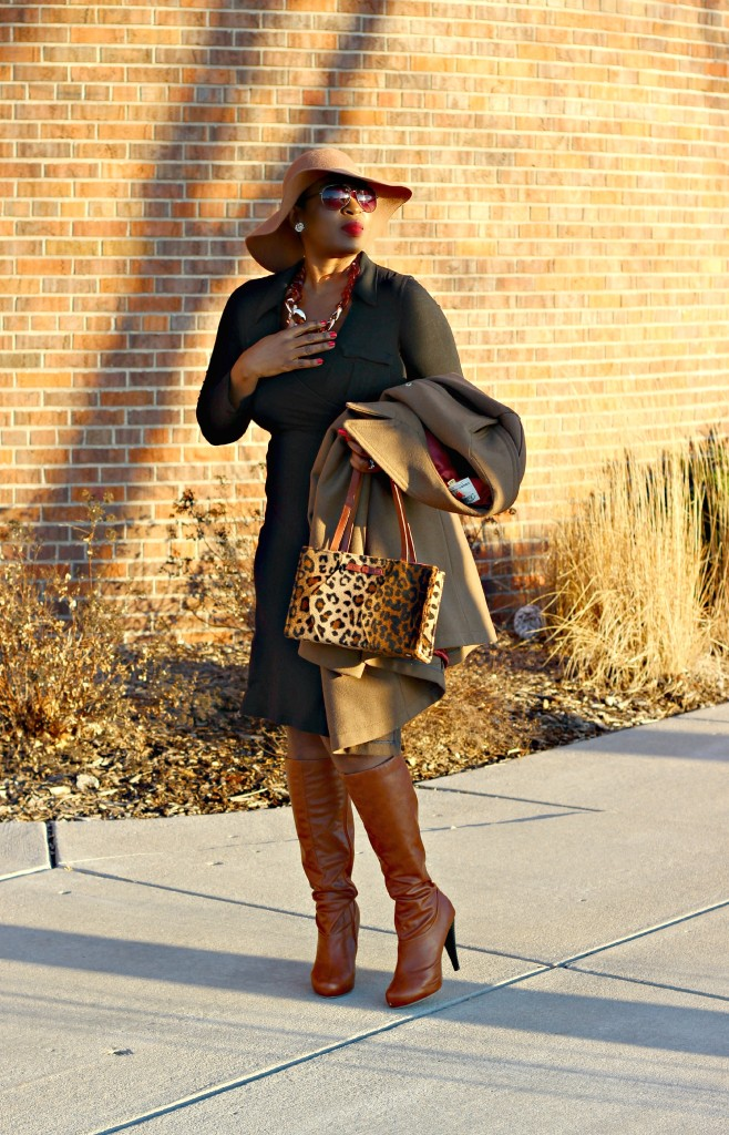 Wrap dress and oversized coat 4jpg