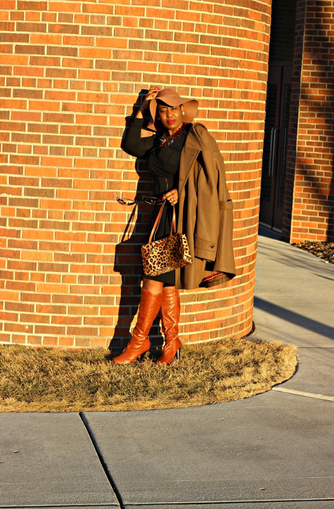 Wrap dress and oversized coat 7