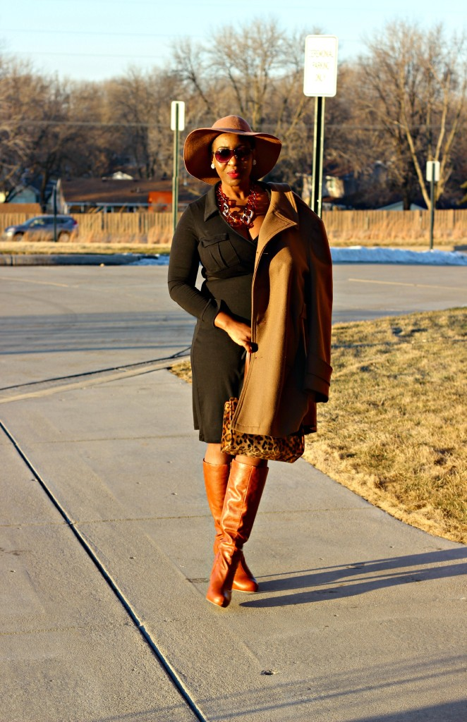 Wrap dress and oversized coat 8