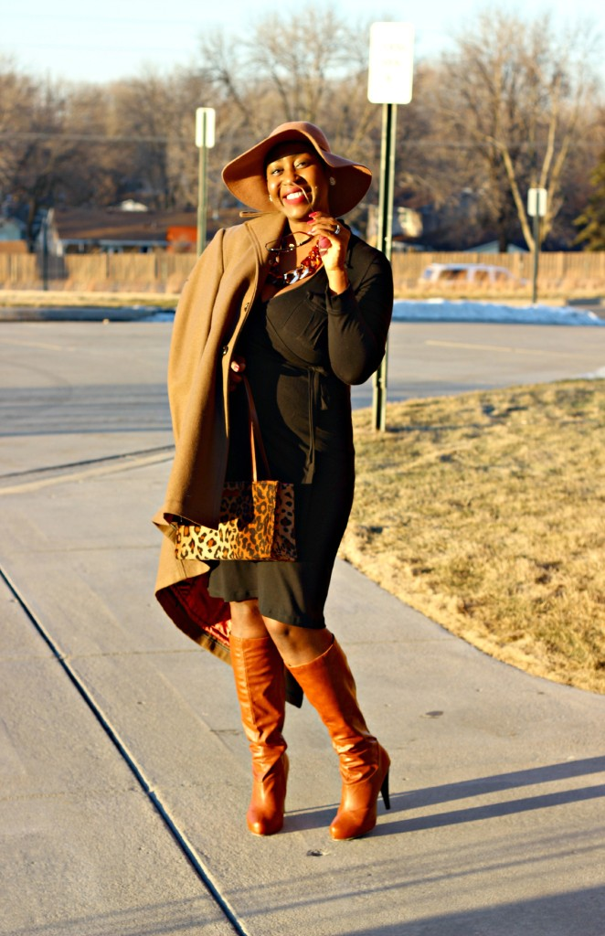 Wrap dress and oversized coat12