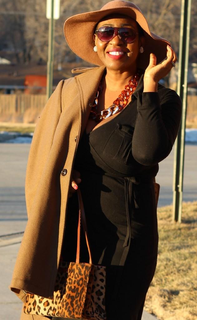 Wrap dress and oversized coat13