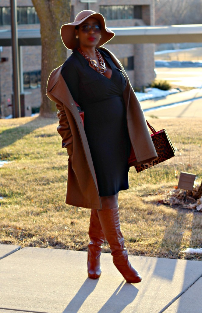 Wrap dress and oversized coat14