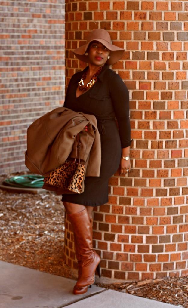 Wrap dress and oversized coat15