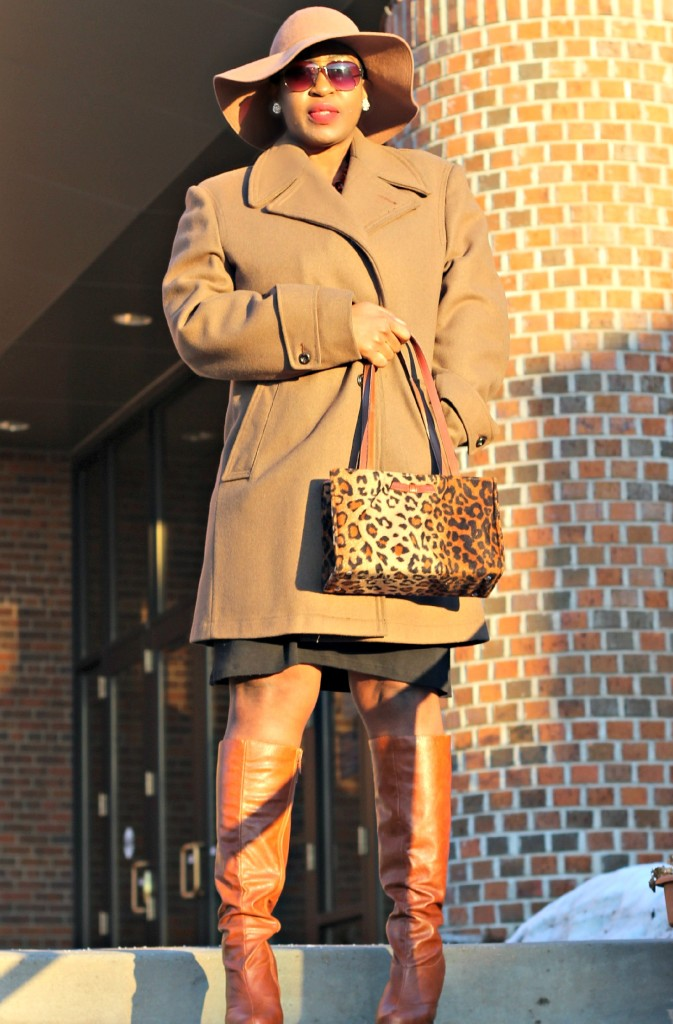 Wrap dress and oversized coat20
