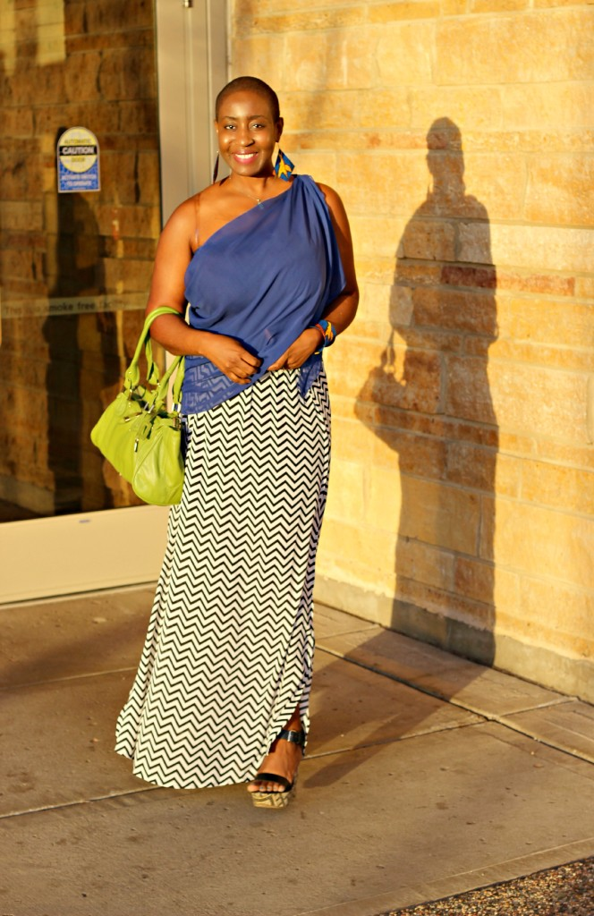 Chevron Maxi Skirt 1