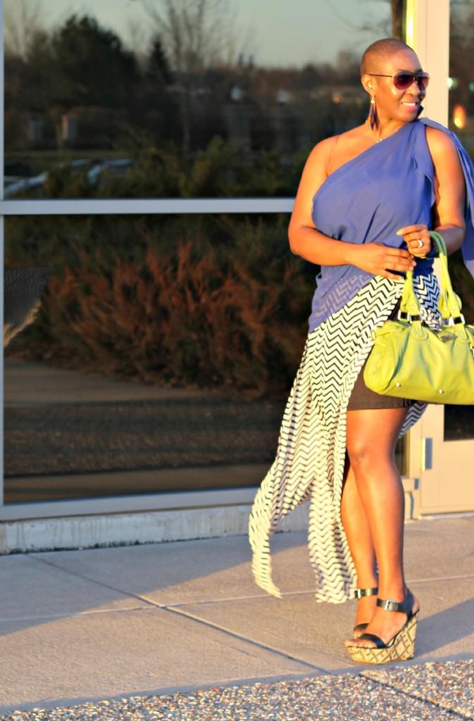 Chevron Maxi Skirt 12