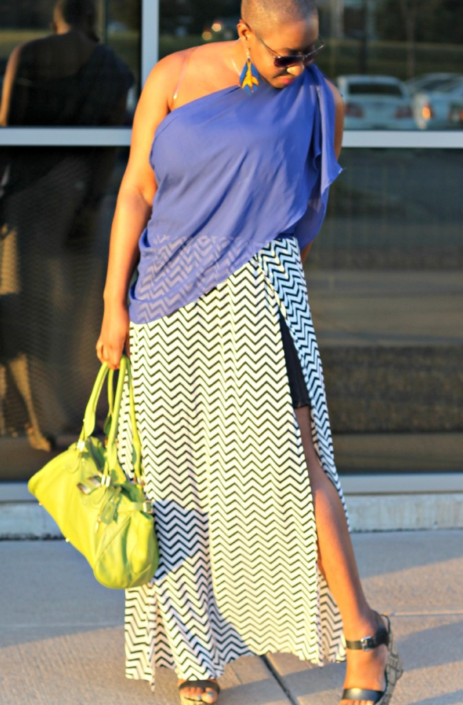 Chevron Maxi Skirt 22