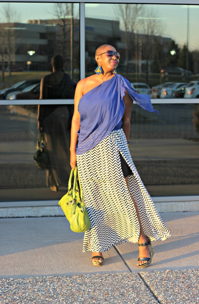 Chevron Maxi Skirt 23