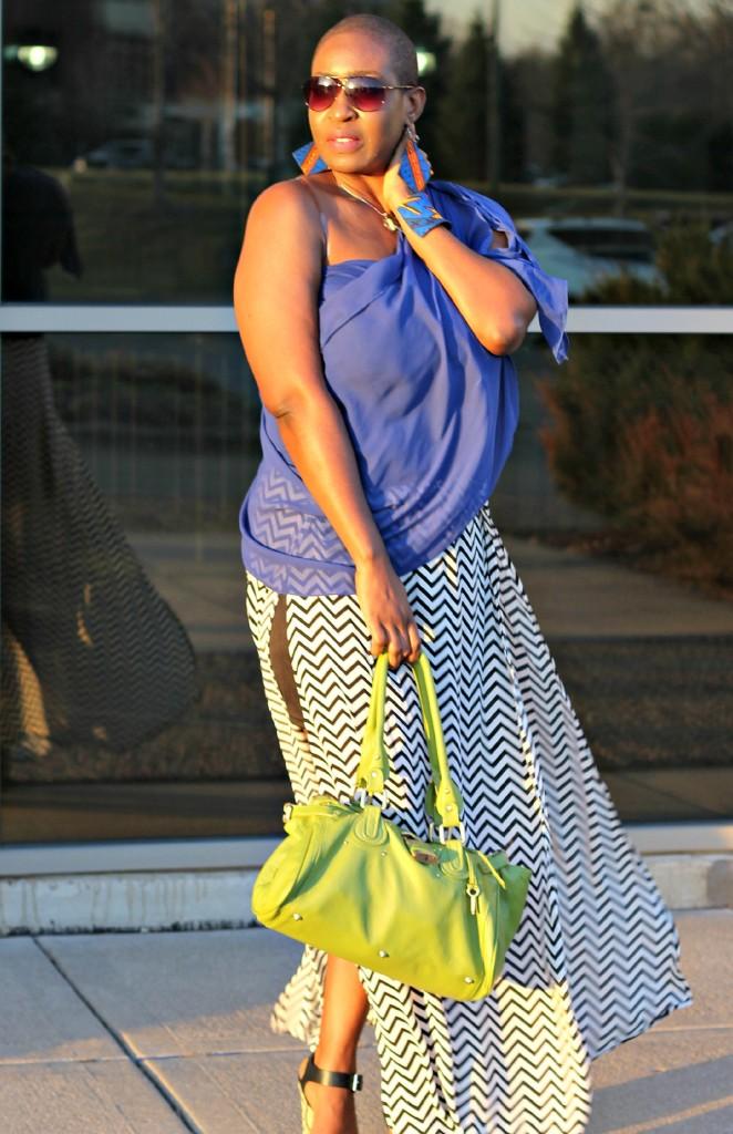 Chevron Maxi Skirt 27