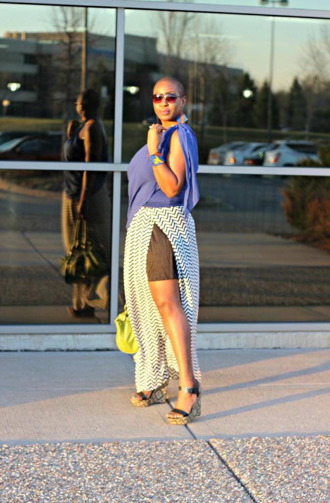 Chevron Maxi Skirt 28