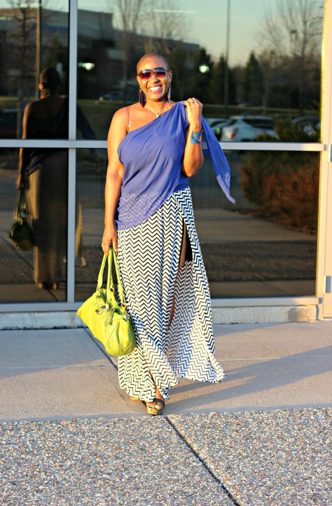 Chevron Maxi Skirt 29