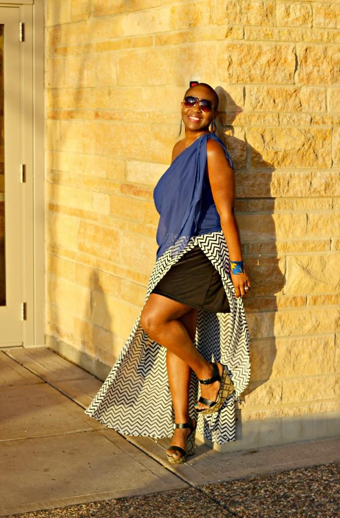 Chevron Maxi Skirt 6