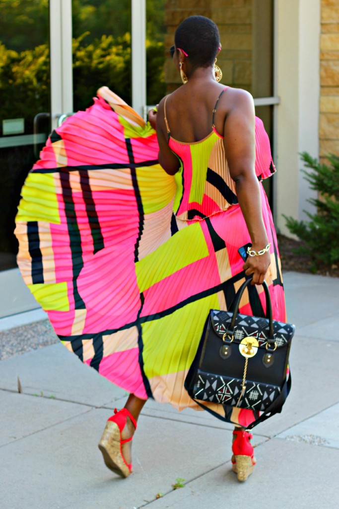 Colorful High Low dress1