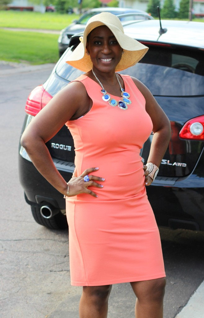 Summer peach dress 17