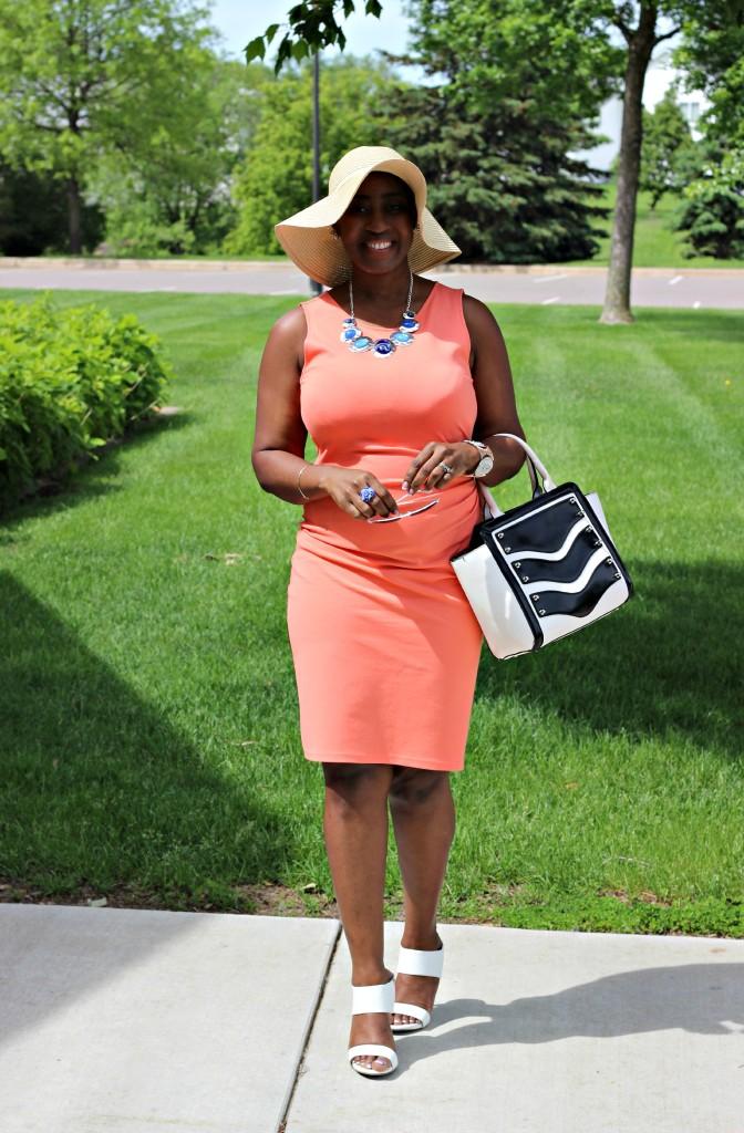 Summer peach dress 4