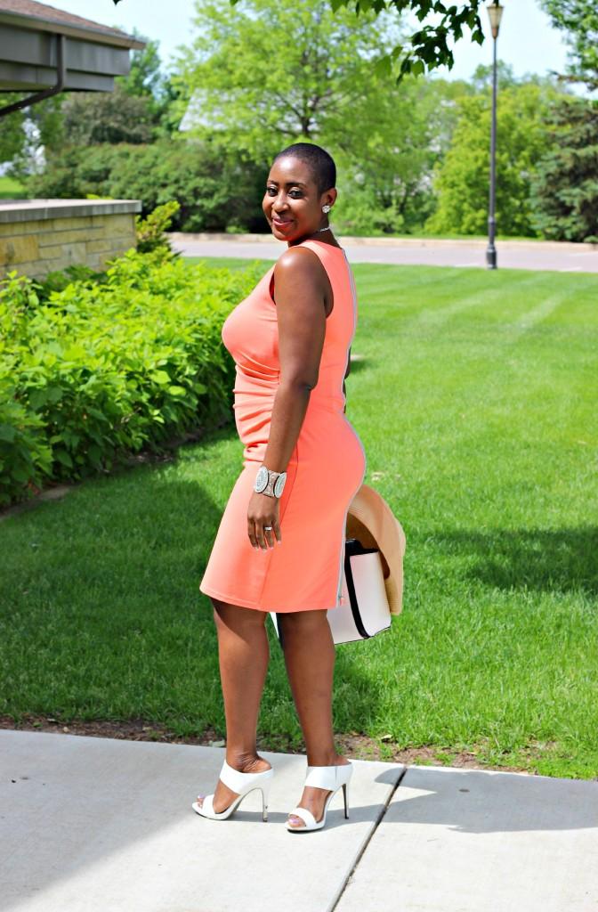 Summer peach dress 5