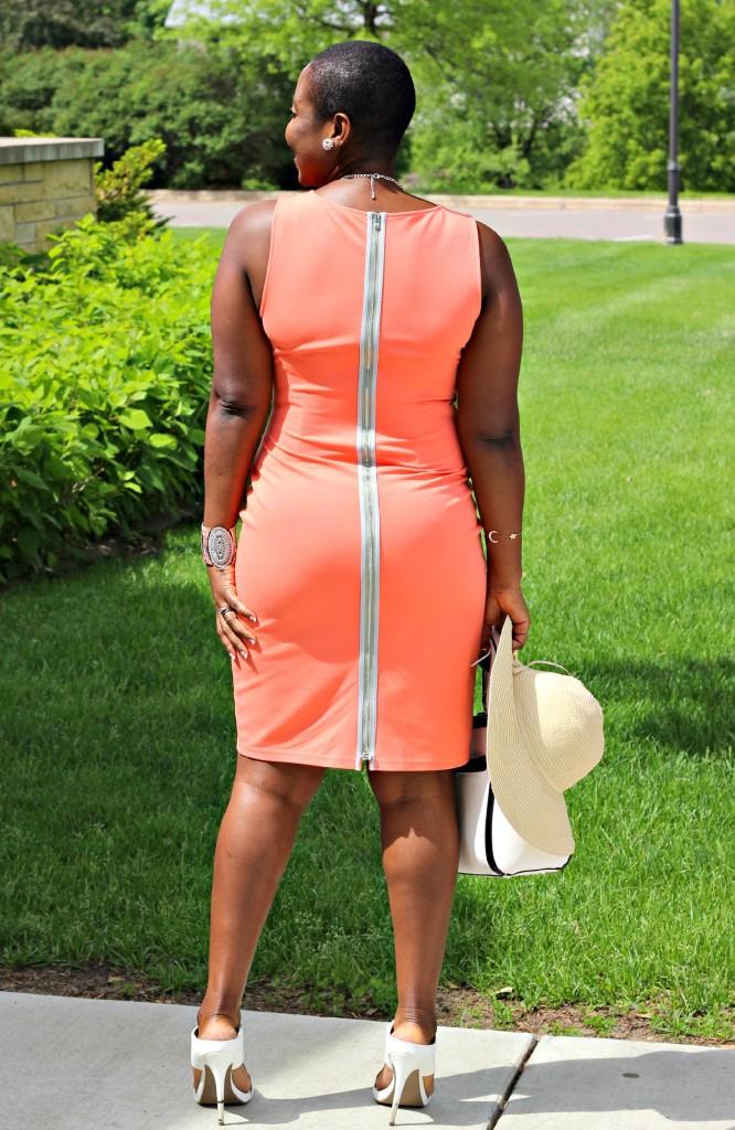 Summer peach dress 8
