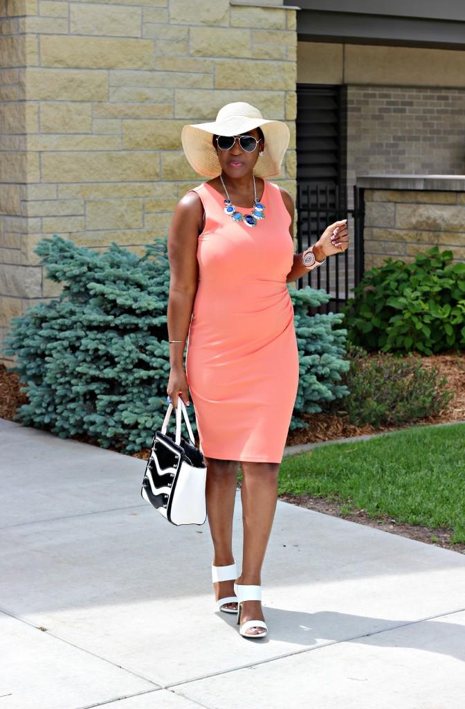Summer peach dress1