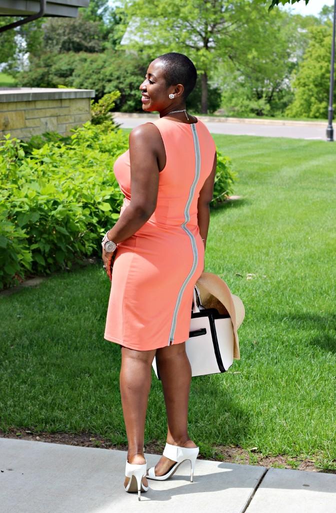 Summer peach dress10