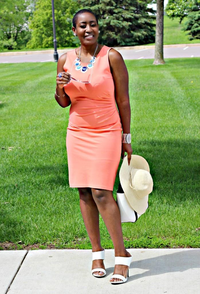Summer peach dress15