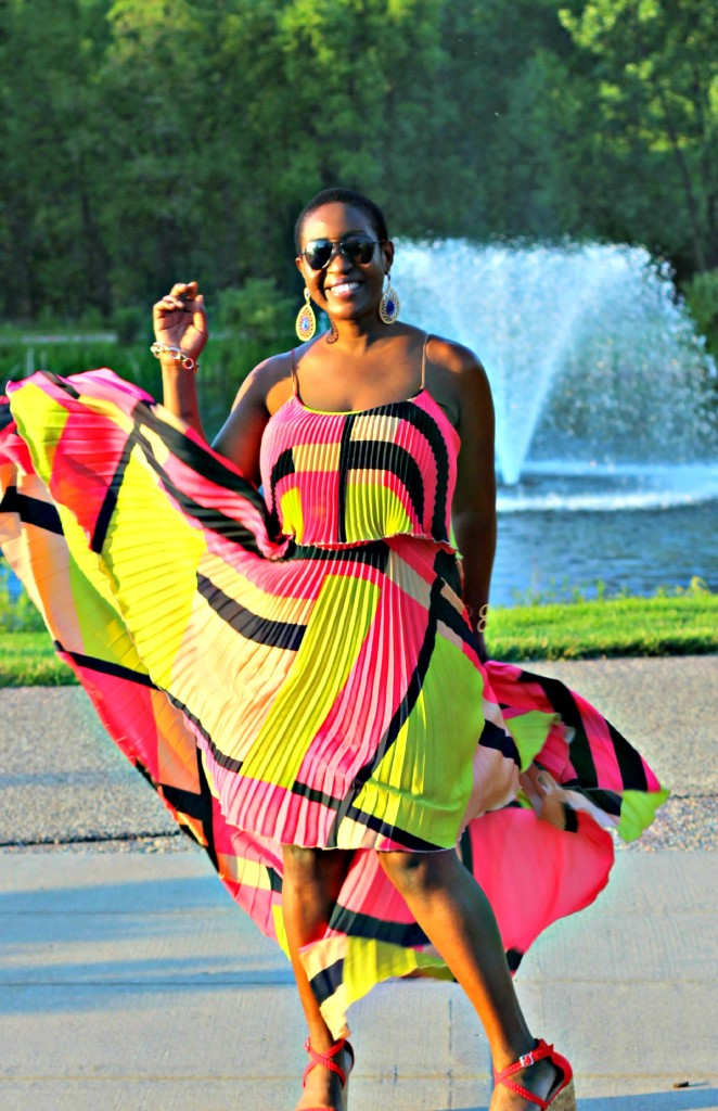 Colorful High Low dress 14