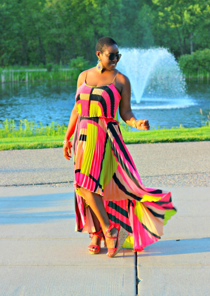 Colorful High Low dress 15