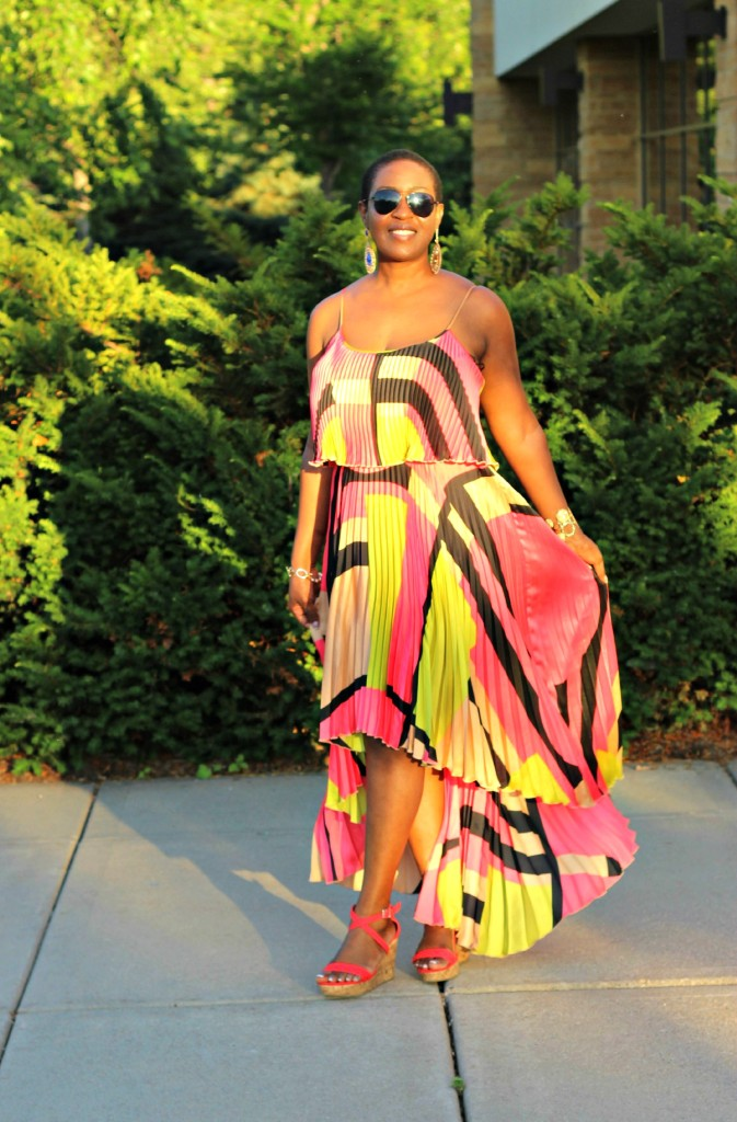 Colorful High Low dress 16