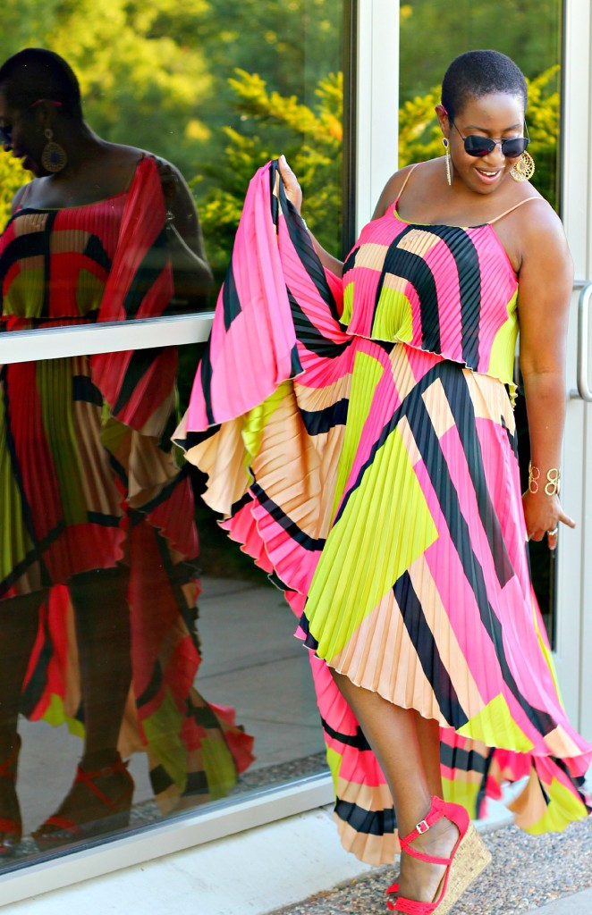 Colorful High Low dress. !!4jpg