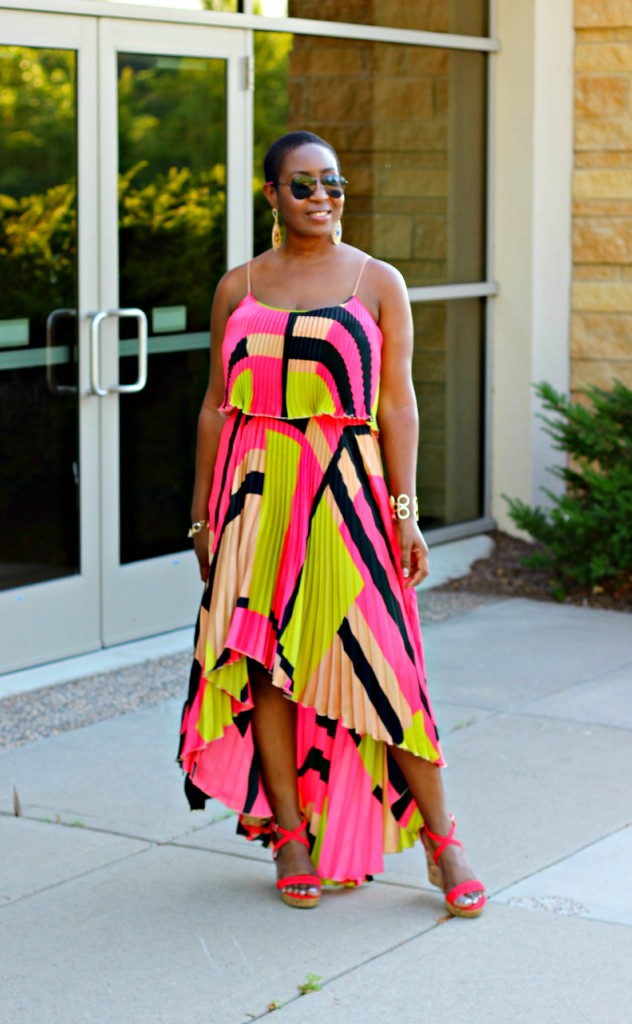 Colorful High Low dress38