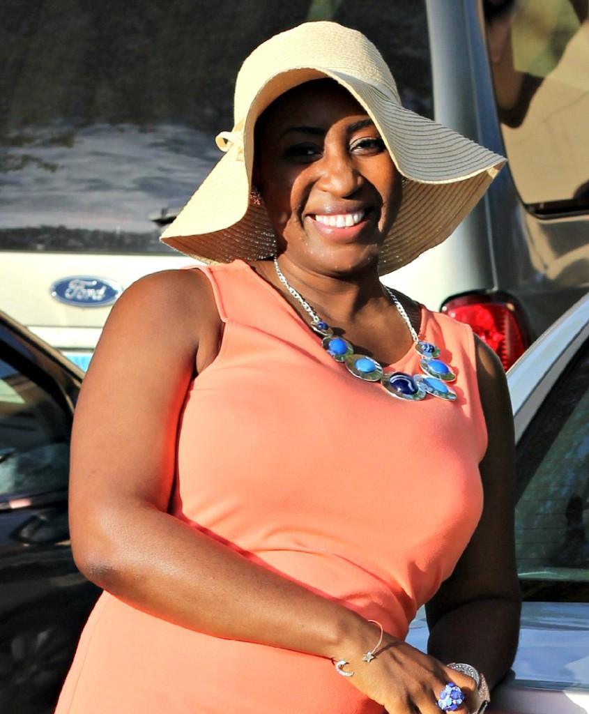 Summer peach dress24